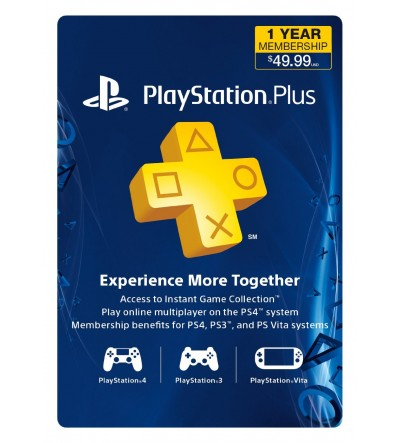 PlayStation Plus 12 Months USA