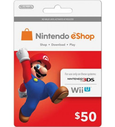 Nintendo E-Shop $50 Card