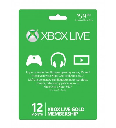 Xbox Live Gold Membership 12 Months