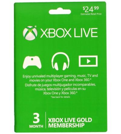 Xbox Live Gold Membership 3 Months